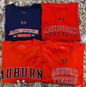 Under Armour Auburn University Tigers Menand039s Shirts Size L Orange And Navy
