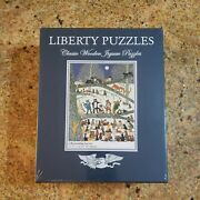 New Liberty Puzzle A Resounding Success Cat Orchestra 513 Piece Wooden Jigsaw