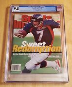 1998 Sports Illustrated John Elway Newsstand Issue Cgc 9.8 None Higher No Label