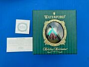 Waterford Holiday Heirlooms Christmas Ornament Ashbourne Ball Made In Italy