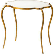 Cyan Design 03039 Flora 29 X 28 Inch Gold/white Side Table