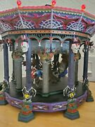 Halloween Ghostly Carousel Retired Department 56 Lights Motion And Sounds Preowned