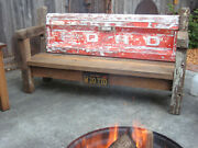 Ford Pickup Truck Tailgate Bench Salvaged Reclaimed Barn Wood Hand Madeandnbsp