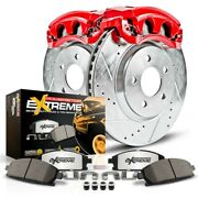 Kc2047-36 Powerstop 2-wheel Set Brake Disc And Caliper Kits Rear New For Chevy