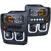 111305 Anzo Headlight Lamp Driver And Passenger Side New For F250 Truck F350 F450