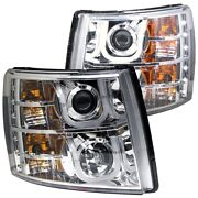 111282 Anzo Headlight Lamp Driver And Passenger Side New For Chevy Lh Rh Chevrolet