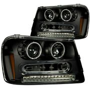 111127 Anzo Headlight Lamp Driver And Passenger Side New For Chevy Lh Rh Chevrolet