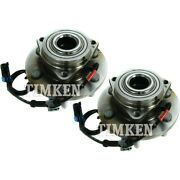 Set-tmsp500300 Timken Set Of 2 Wheel Hubs Front Driver And Passenger Side New Pair