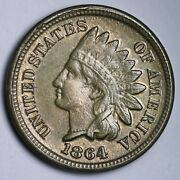 1864 Cn Indian Head Cent Penny Choice Unc Uncirculated Ms Free P/h E121 Ufa