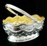 Glorious Antique Sterling Silver Basket, Martin, Hall And Co, London 1881