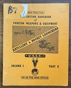 Recognition Handbook Of Foreign Weapons And Equipment, Artillery Vol 1 Part 2 1956