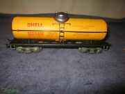 Vintage Marx S.c.c.x. 652 Tin Lithographed Shell Tank Car Nice Ss