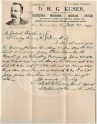 Kuser Farm Tools Justice Of Peace New Berlinville Pa Antique Advertising Letter
