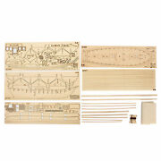 Diy Ship Assembly Model Kits Wooden Sailing Boat Scale Decoration Toys Gift P5j5