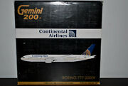 Gemini Jets 1/200 Boeing 777-200er Continental Airlines - Excellent Condition