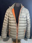 Eddie Bauer First Ascent Premium Goose Down 800 Fill Hood Jacket Mens Tall Large