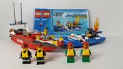 Lego City Fire Boat 60005 100 Complete With 4 Minifigs And Instructions