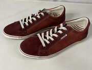 Taos Star Womenandrsquos Suede Sneakers Coastal Beach Red Size 11 Ortho Insoles.
