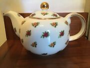 Royal Albert Old Country Roses Classic Ii Chintz Teapot 4 Cups Euc
