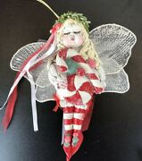 Fairy Fee Collection Linda Hefner Christmas Tree Ornament Candy Cane Angel Baby