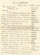 N. S. Andrews Dairy Farm Tools Dubuque Iowa Antique Signed Advertising Letter 18