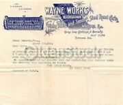 Wayne Works Farm Machinery Richmond Indiana Antique Graphic Advertising Sales Le