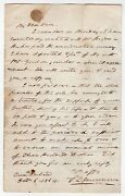 S.l. Gouverneur Maryland Autograph Signed Civil War Letter Paying Maimed Soldier