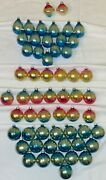 56 Vintage Shiny Brite Glass Christmas Ornaments - Only Ombrandeacute