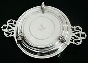 High Quality Crested Sterling Silver Bowl Lid Doubles Up As Base Stand 1929