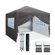 Us Pop Up Canopy 10'x10' Outdoor Folding Gazebo Wedding Party Tent With 4 Sides