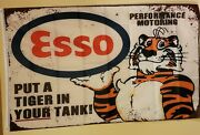 Esso Put A Tiger In Your Tank 3x5 Flag/banner 195 Appearance Like Rustic Sign