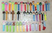 Lot Of 45 Loose Pez Candy Dispensers Halloween Star Wars Easter Mickey Kitty