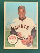 1967 Topps 5 X 7 Pin Up Poster Insert 12 Willie Mays