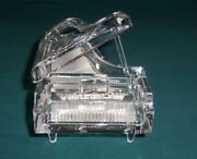 3 Pc Hofbauer Lead Crystal Baby Grand Piano Figurine Germany Vtg Extremely Rare