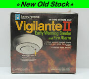🔥 Vintage Entronic Vigilante Ii Early Warning Smoke And Fire Alarm, Battery, New