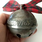 Vtg 1978 Annual Wallace Silver Plate Holiday Bell Christmas Ornament Decor Art