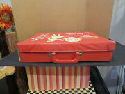 Original Vintage 1968 Barbie And Midge Red And White Doll Trunk