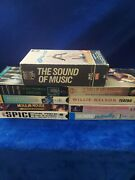 Vhs Music Lot Of 10 Pre Owned The Sound Of Music, Elvis,willie Nelson, And More