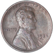 1924 D Lincoln Wheat Cent Very Fine Penny Vf See Pics J442