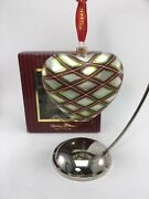 Waterford Holiday Heirlooms Heart Christmas Ornament W/box Beautiful