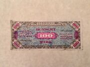 1944 Wwii Germany Allied Occupation Military Currency 100 Mark - Free Shipping