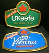Vintage O'keefe Canadian Ale And Old Vienna Canadian Beer Bar Wall Signs Excellent
