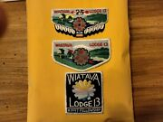 Boy Scout,wiatava Lodge 13,order Of The Arrow Pocket Flaps And Pocket Patch.25 Yrs