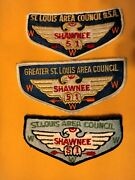 Boy Scout,3 Shawnee Lodge 51,order Of The Arrow Pocket Flaps.st Louis Area.