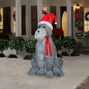 Schnauzer Dog Soft Plush Fabric For Realistic Look Christmas Airblown Inflatable