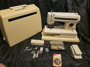 Vintage Sears Kenmore Sewing Machine Model 158 Tested Works W/ Pedal And Access
