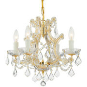Crystorama 4474-gd-cl-s Maria Theresa Mini Chandelier Gold