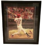 Mark Mcgwire Signed Framed 1998 Schedule Litho 32.5 X 26.5 St. Louis Cardinals