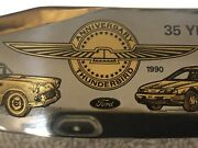 Usa Made Collectible Stag Bowie Knife Thunderbird 35th Anniversary 1955 To 1990