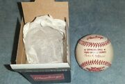 Vintage Rawlings 1980 Official World Series Baseball Bowie Kuhn In Box
